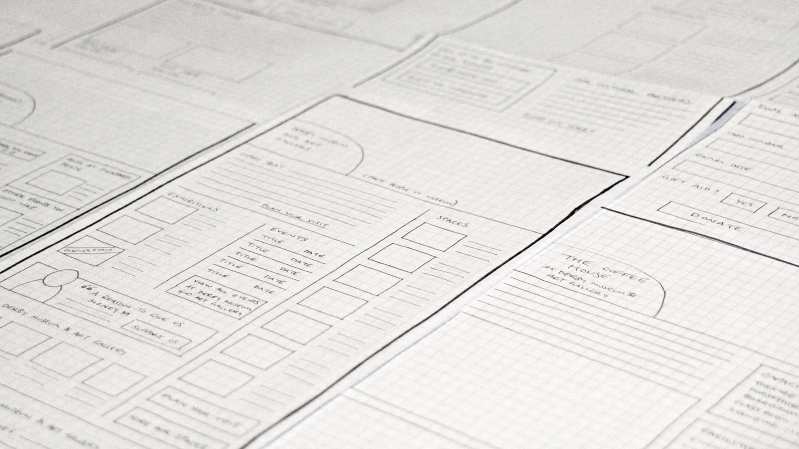 Photo of paper prototypes